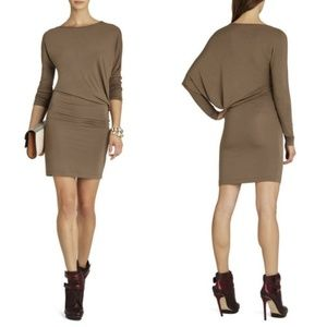 BCBGMaxazria Laheld Side Draped Knit Tunic Dress M